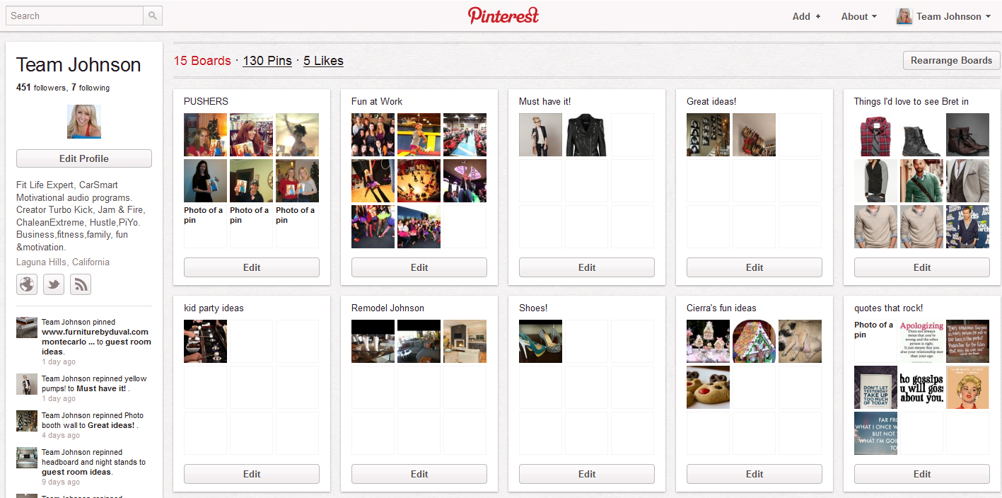 What's Your Pinterest? | Chalene Johnson Official Site | Create ...