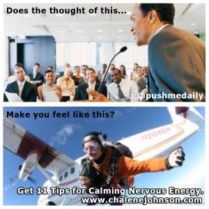 controlling nervous energy