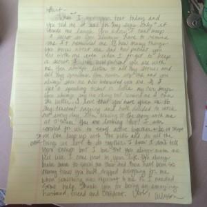 Allyson's love letter