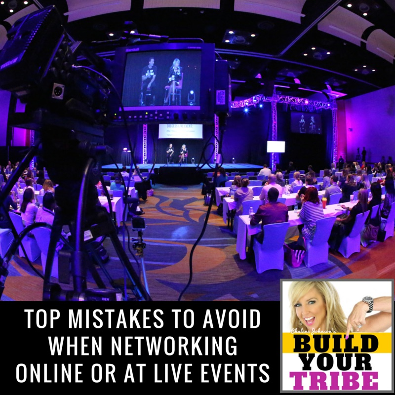 Top Mistakes to Avoid when Networking Online or at Live Events