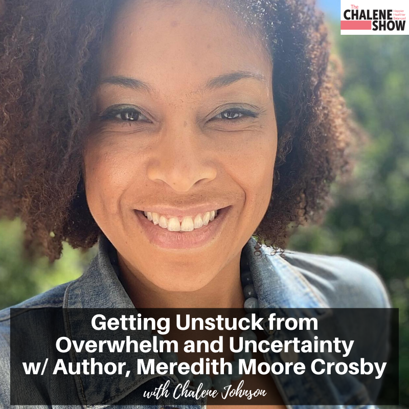 Podcast – Getting Unstuck from Overwhelm and Uncertainty with Author, Meredith Moore Crosby