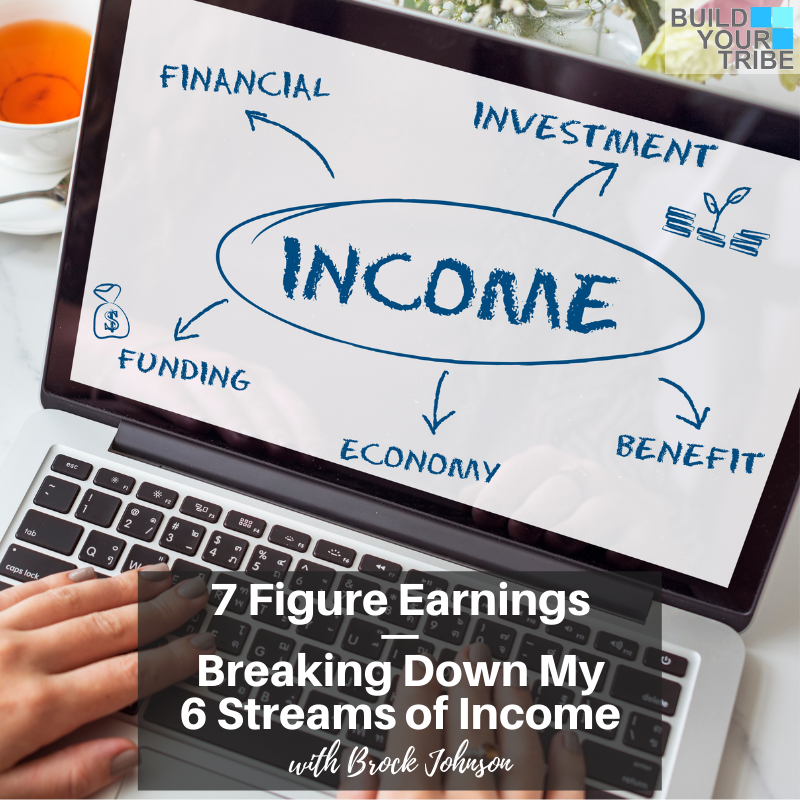 Podcast – 7 Figure Earnings | Breaking Down My 6 Streams of Income, with Brock Johnson